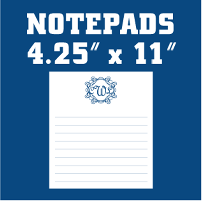 Monogram Notepads 25 Sheets per Pad