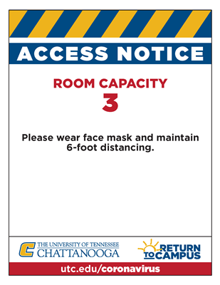 ROOM CAPACITY 3 SIGNS