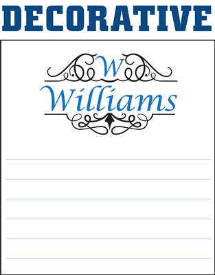Monogram Notepads Decorative