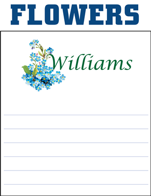 Monogram Notepads Flowers